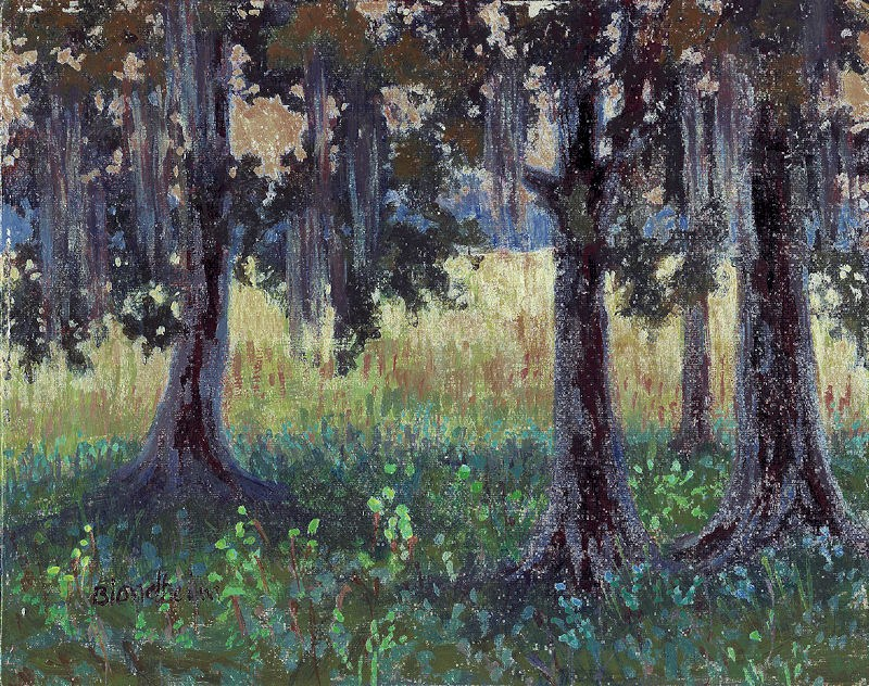 """Tuscawilla Trees"" original fine art by Linda Blondheim"