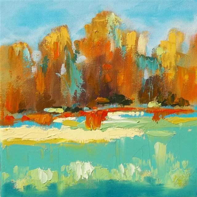 """Landscape 117"" original fine art by Ewa Kunicka"