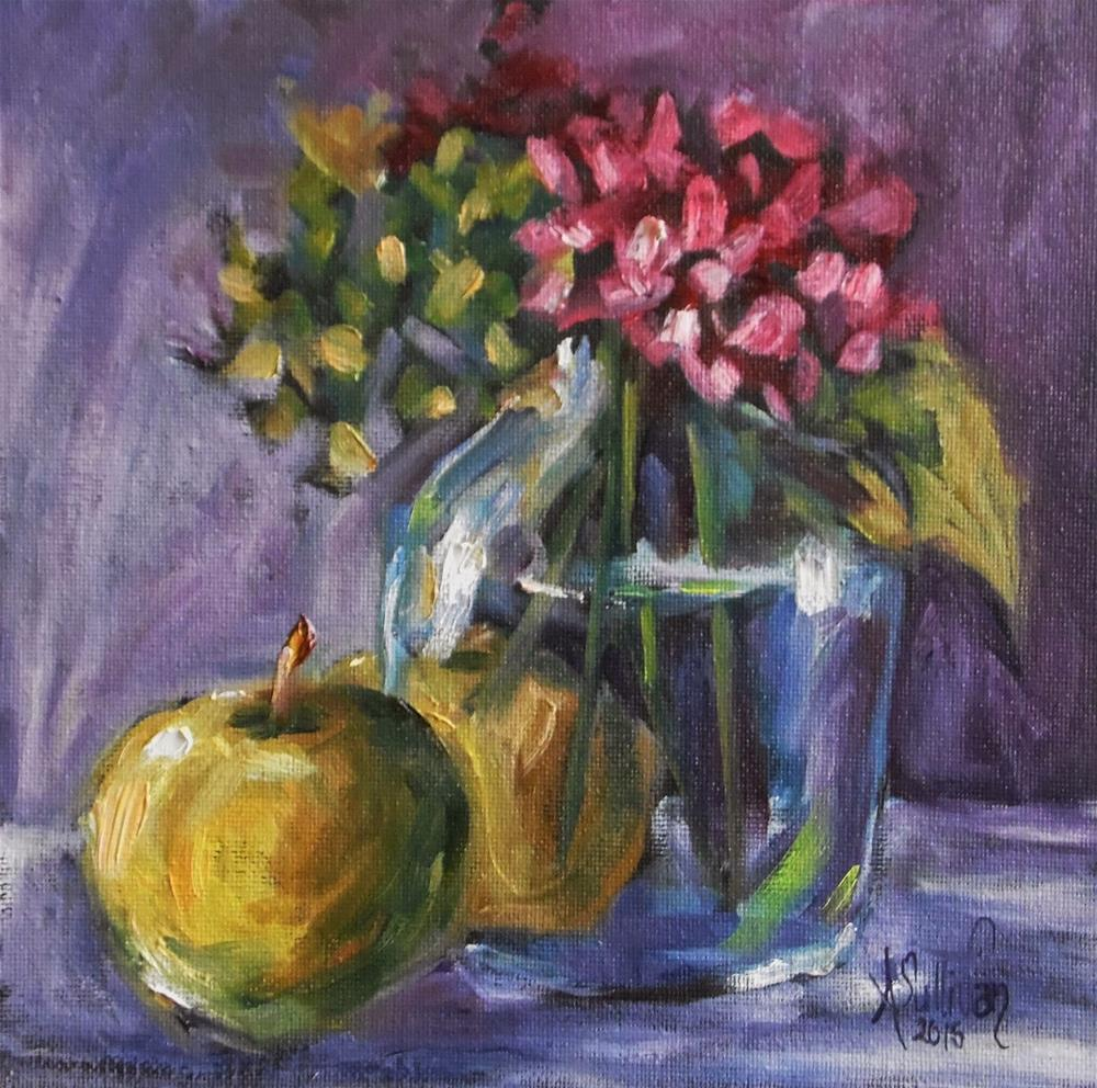 """Peeping Through still life painting by Alabama Artist Angela Sullivan"" original fine art by Angela Sullivan"