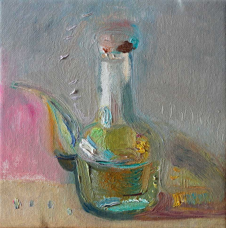 """Glass Oil Can"" original fine art by Anna  Fine Art"