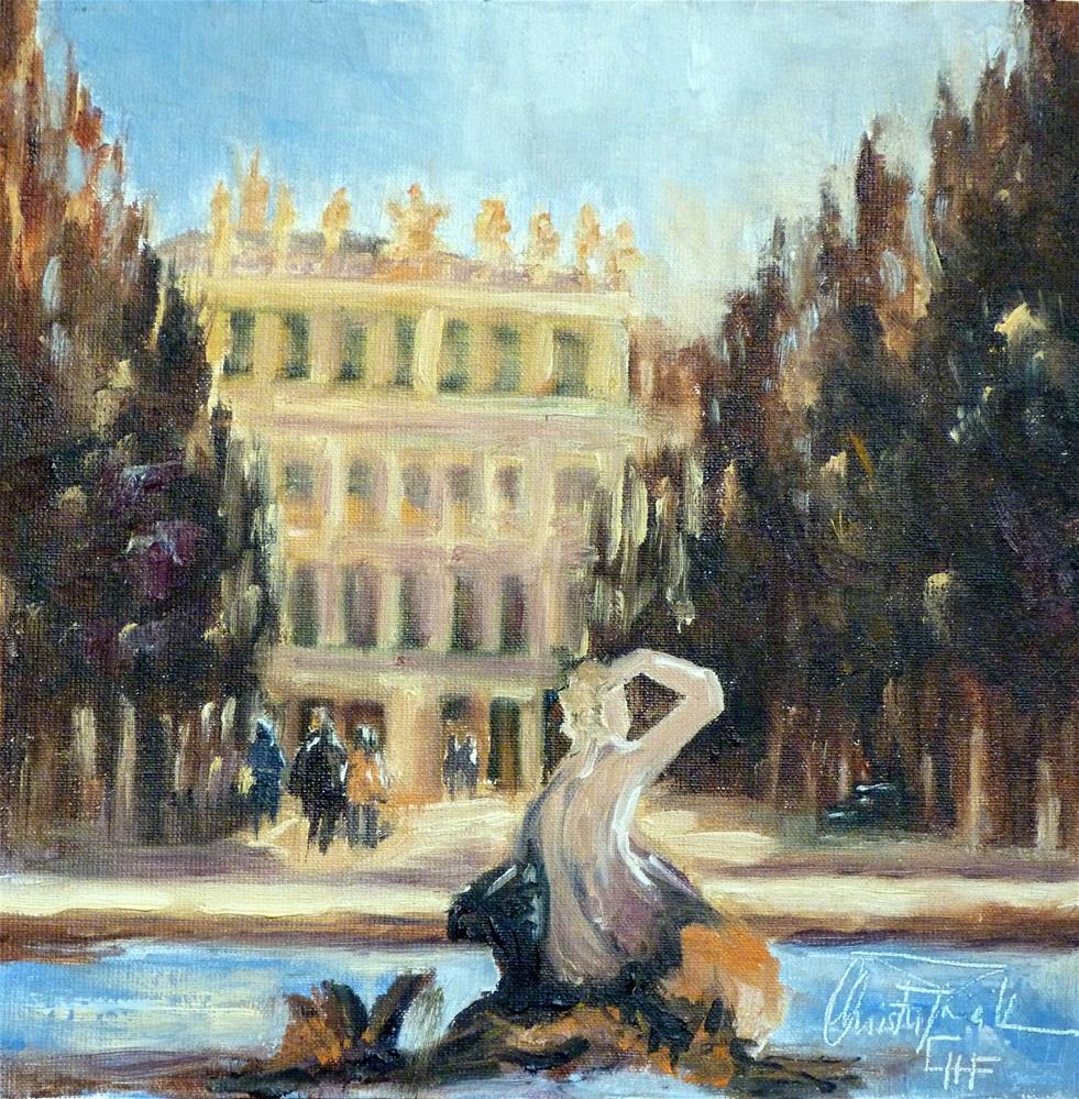 """""""Schloss Schönbrunn – Schönbrunn Palace"""" original fine art by Christa Friedl"""