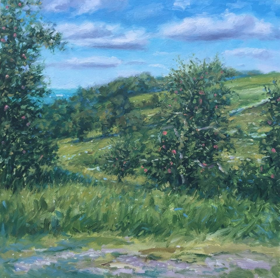 """Late Summer Orchard"" original fine art by Danny O'Leary"