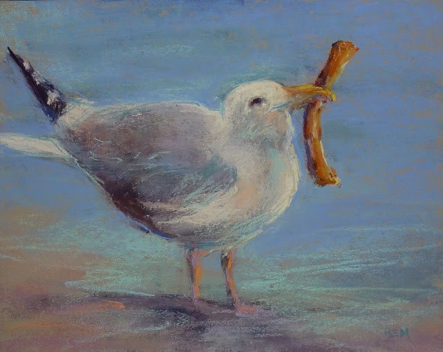 """Tips for Painting Sand with Pastels"" original fine art by Karen Margulis"
