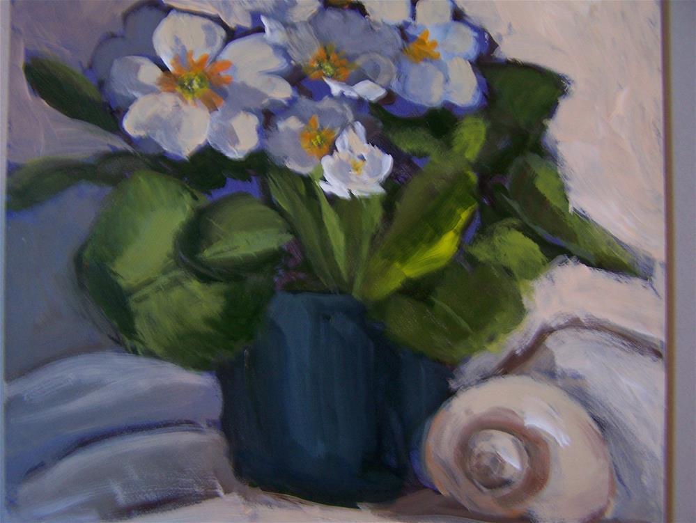 """""""Primroses"""" original fine art by Joan Reive"""