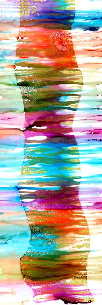 """Caribbean Palm"" original fine art by Karen Wysopal"