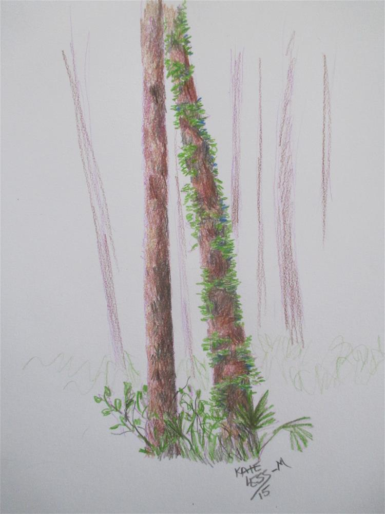 """Clinging Vine"" original fine art by Kate Less-Madsen"