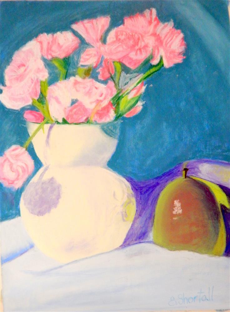 """Pinks & Pears"" original fine art by Elaine Shortall"