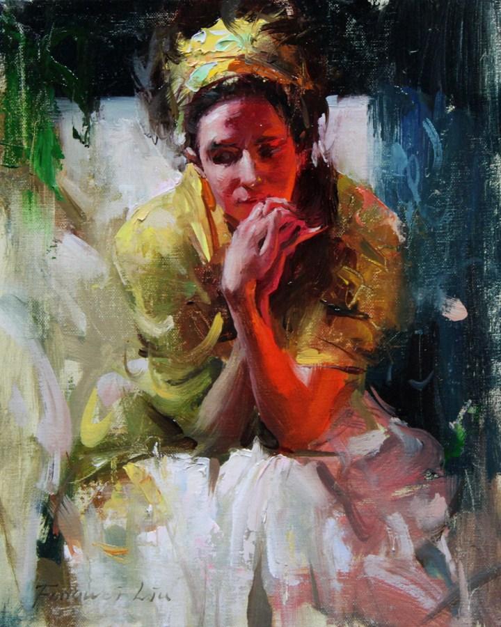"""Small study 001 - 2012"" original fine art by Fongwei Liu"