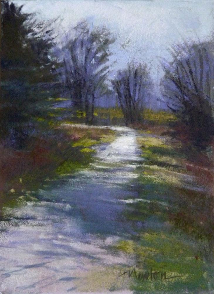 """""""Color Study for Sunday Walk"""" original fine art by Barbara Benedetti Newton"""