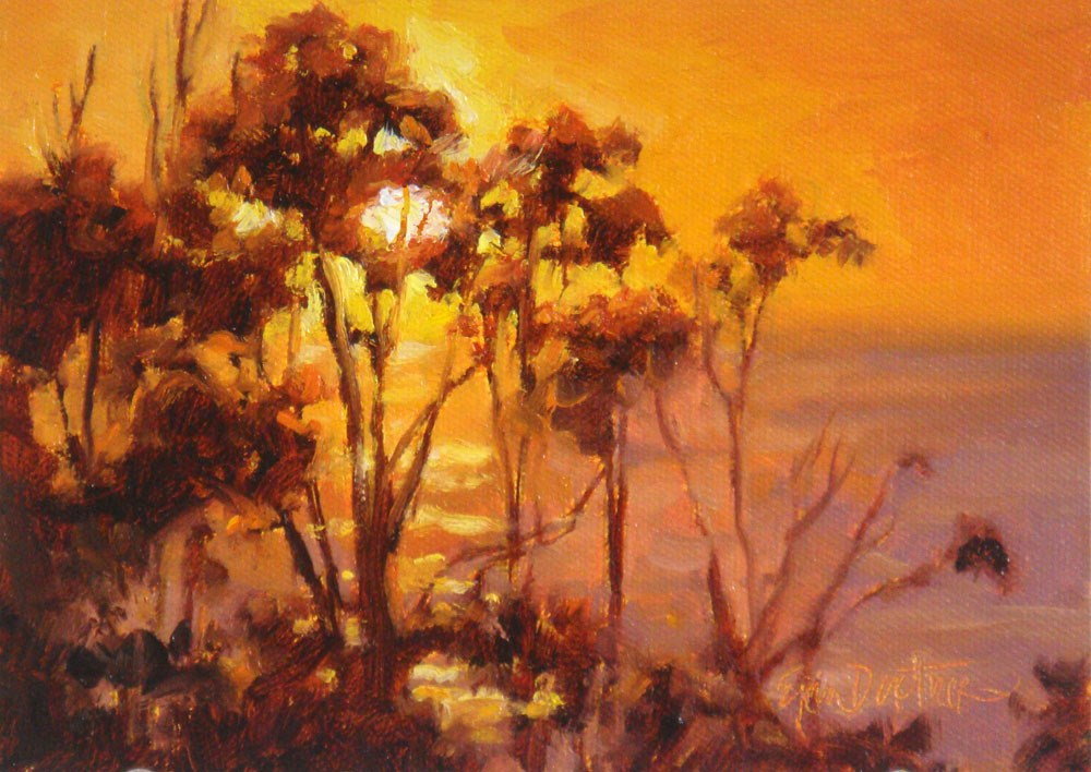 """Backlit Brambles"" original fine art by Erin Dertner"