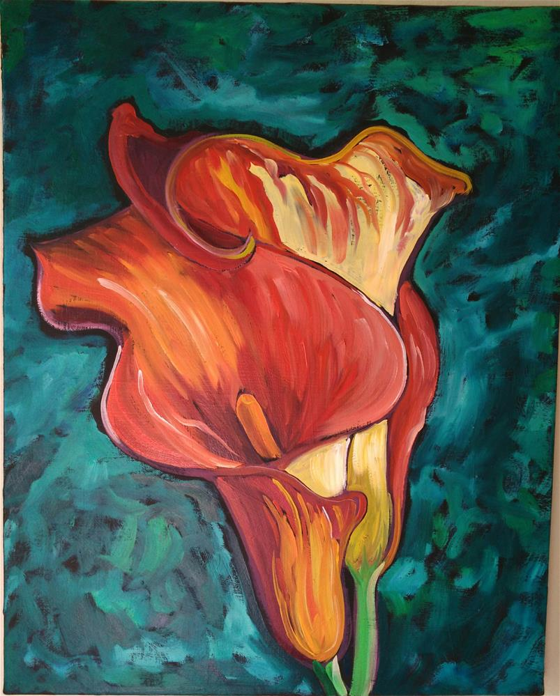 """orange lillies"" original fine art by Robyn Wellman"