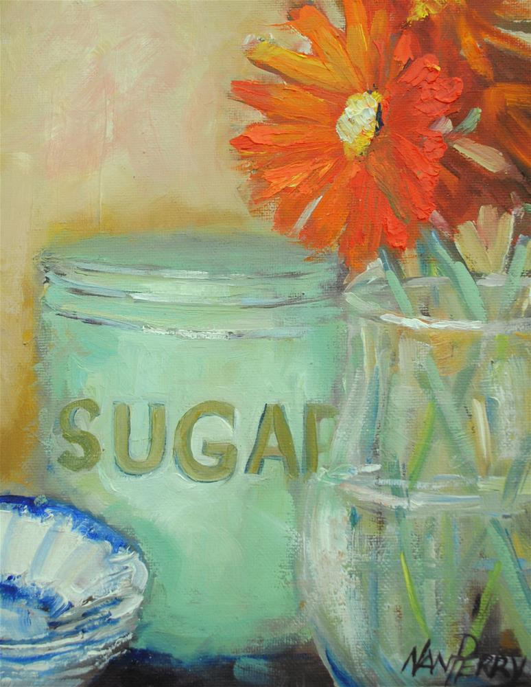 """The Sugar Canister"" original fine art by Nan Perry"