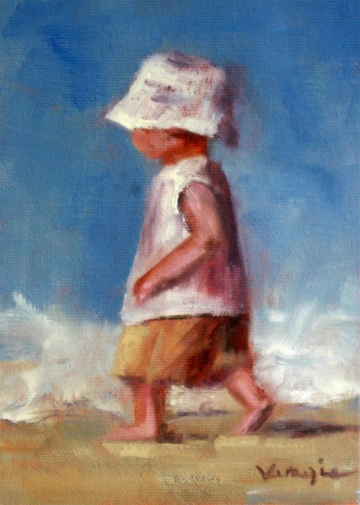 """Baby Boy On The Run"" original fine art by Carrie Venezia"