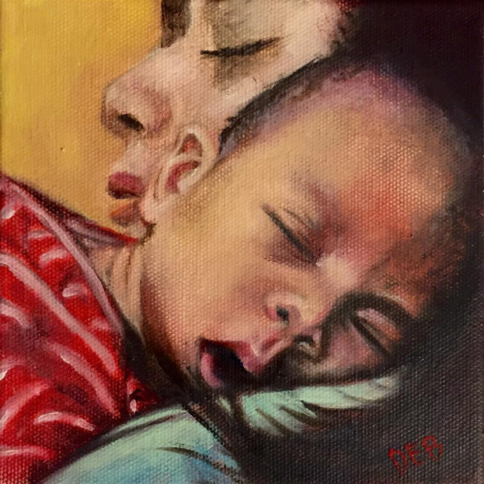 """Tired Squared"" original fine art by Debbie Yacenda"