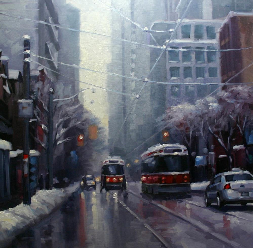 """After The Snow, Queen and McCaul"" original fine art by Catherine Jeffrey"