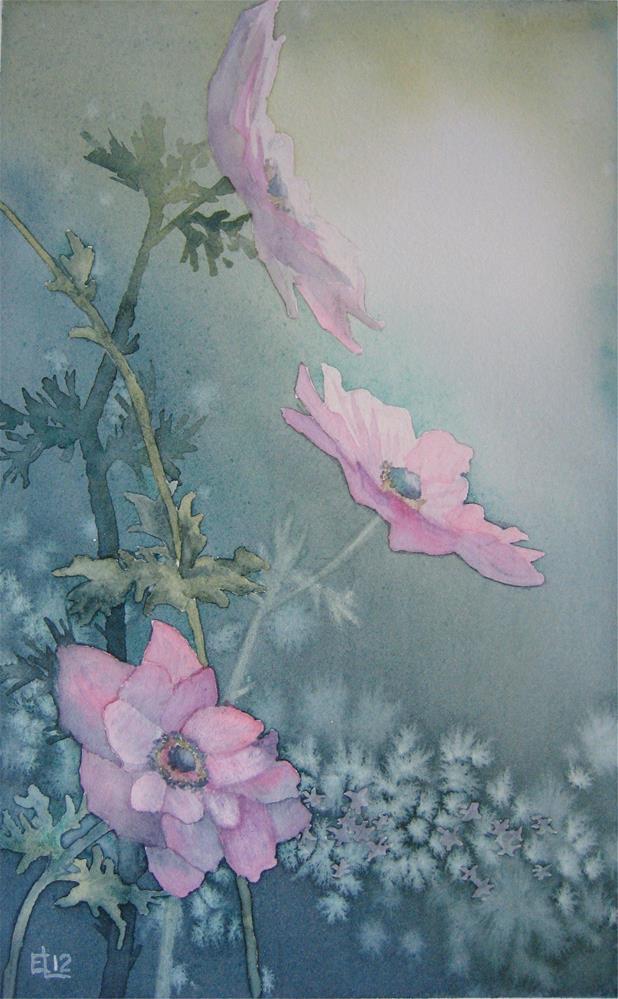 """Anemones I"" original fine art by Emilia Leinonen"