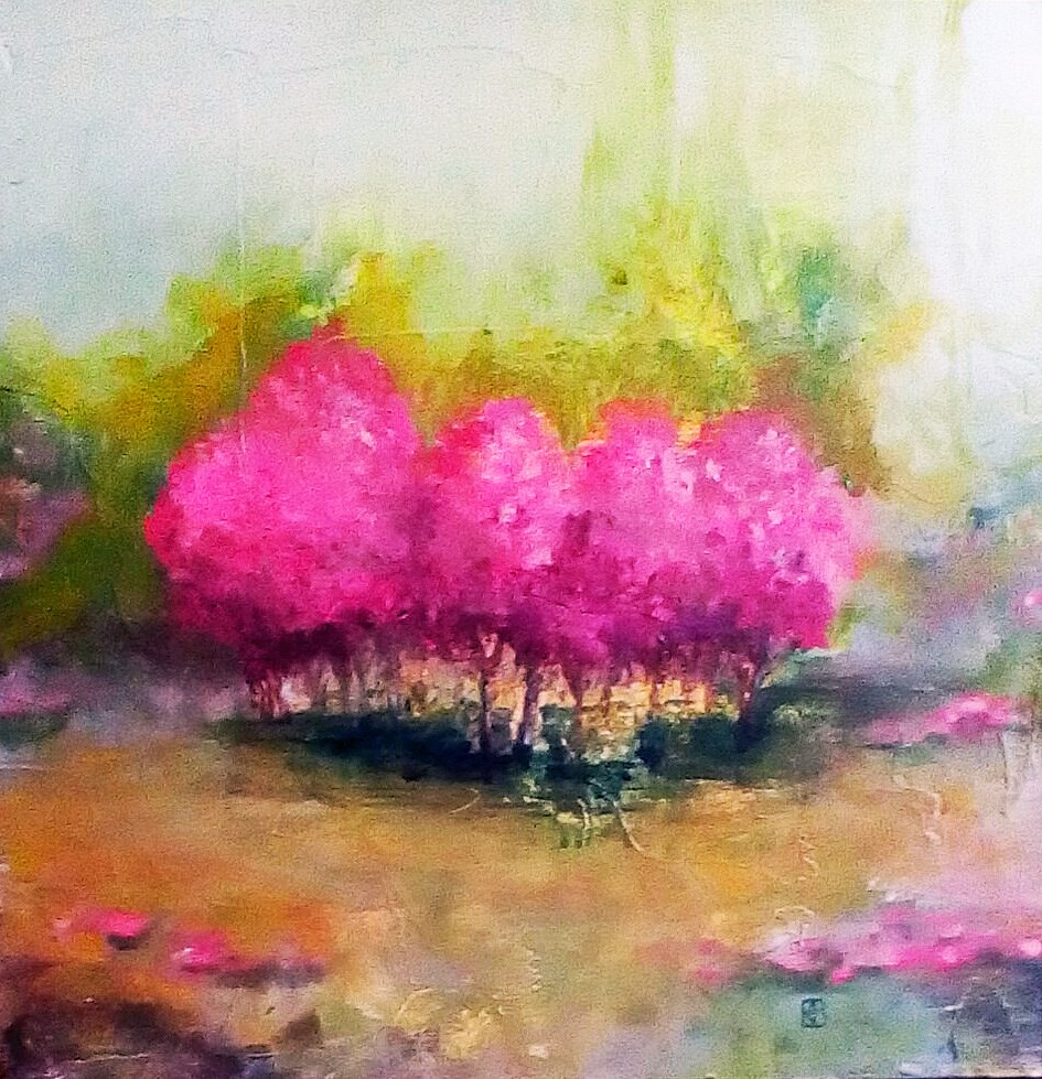 """Misty Nieghbors"" original fine art by Kathleen Barnes"