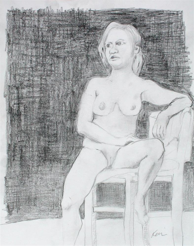 """Seated Nude Female Figure Study"" original fine art by Kerri Blackman"