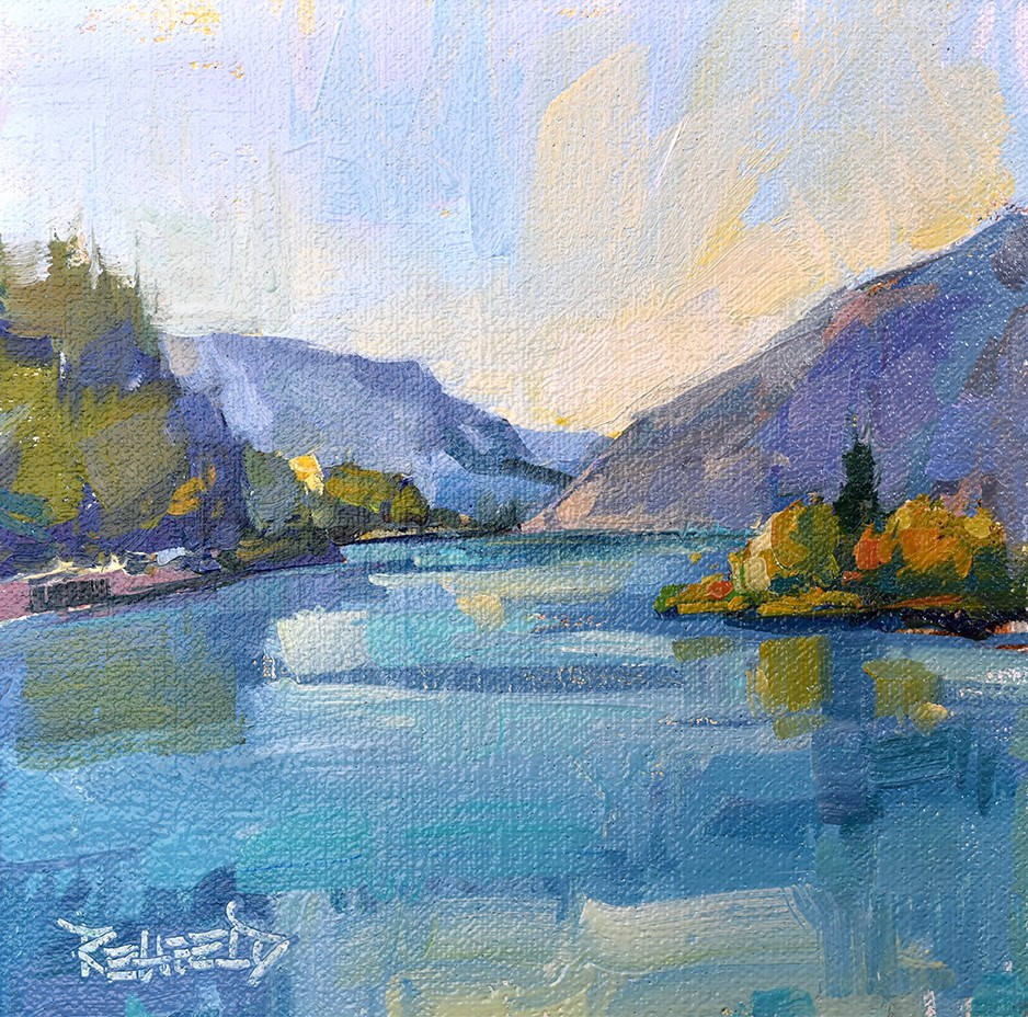 """Calm Day in The Gorge"" original fine art by Cathleen Rehfeld"