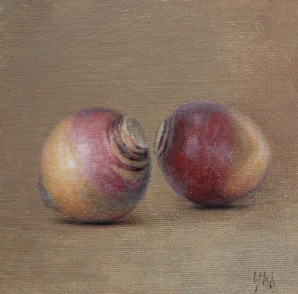 """rutabaga"" original fine art by Yuehua He"