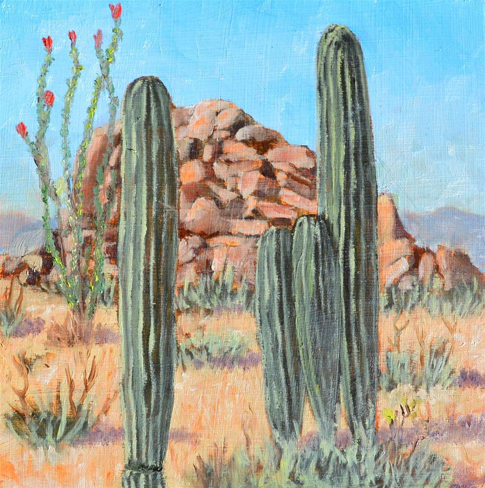 """Monarch of the Sonoran"" original fine art by Robert Frankis"