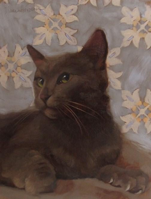 """""""Olive Eyes"""" original fine art by Diane Hoeptner"""