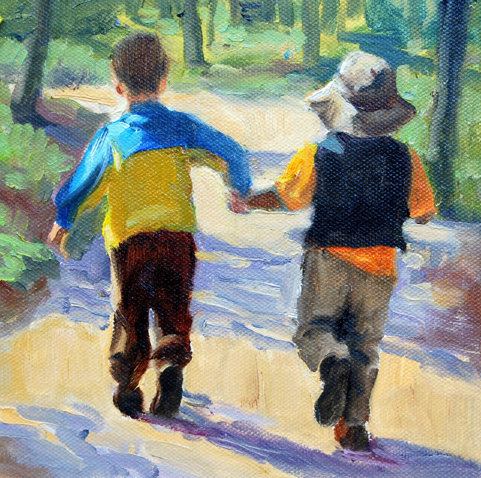 """Helping Hand"" original fine art by Julie Ford Oliver"