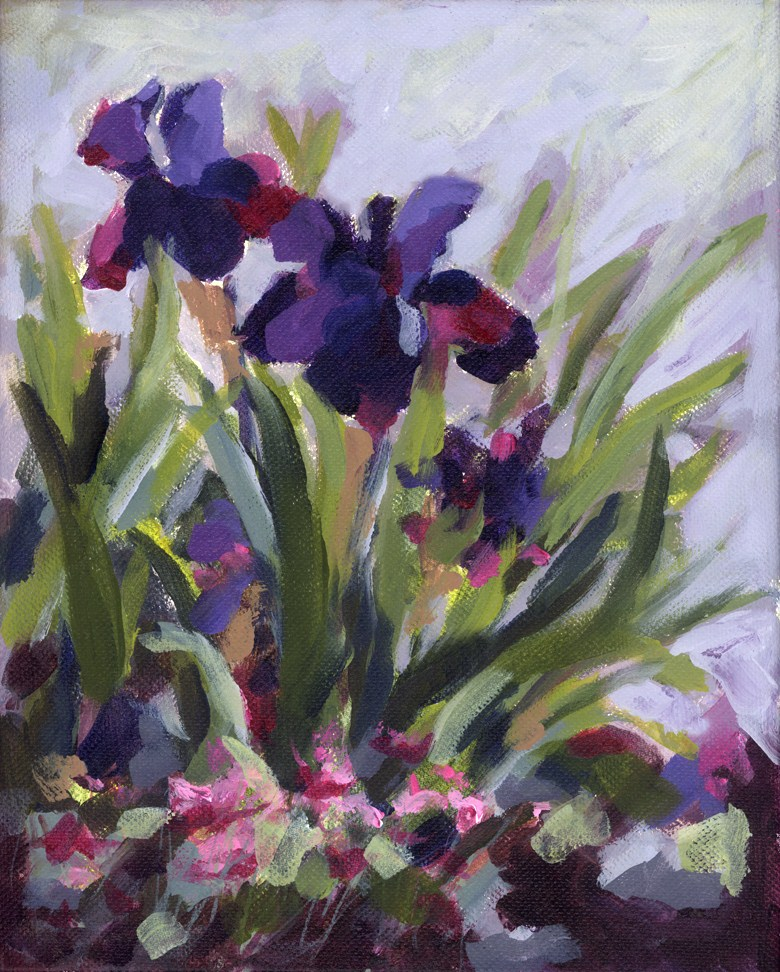 """Iris Inspiration"" original fine art by Pamela Gatens"