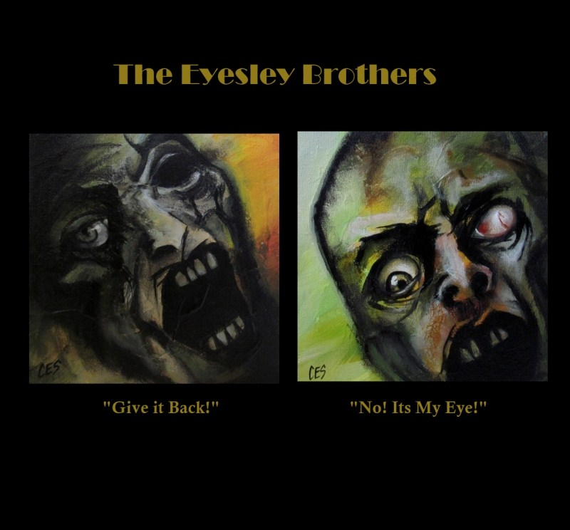 """The Eyesley Brothers: Give It Back! and No! Its My Eye!"" original fine art by ~ces~ Christine E. S. Code"