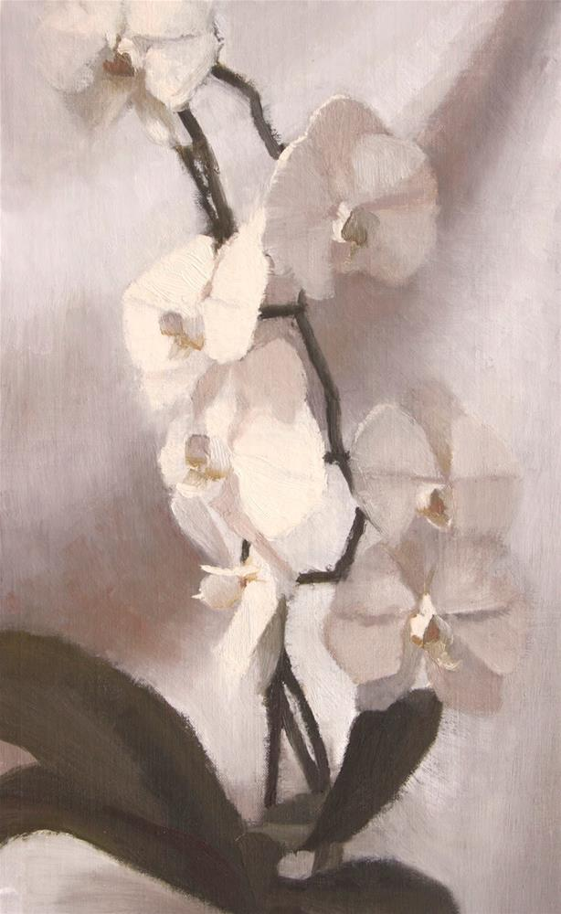 """""""#114 Orchid flow"""" original fine art by Nancy Wallace"""