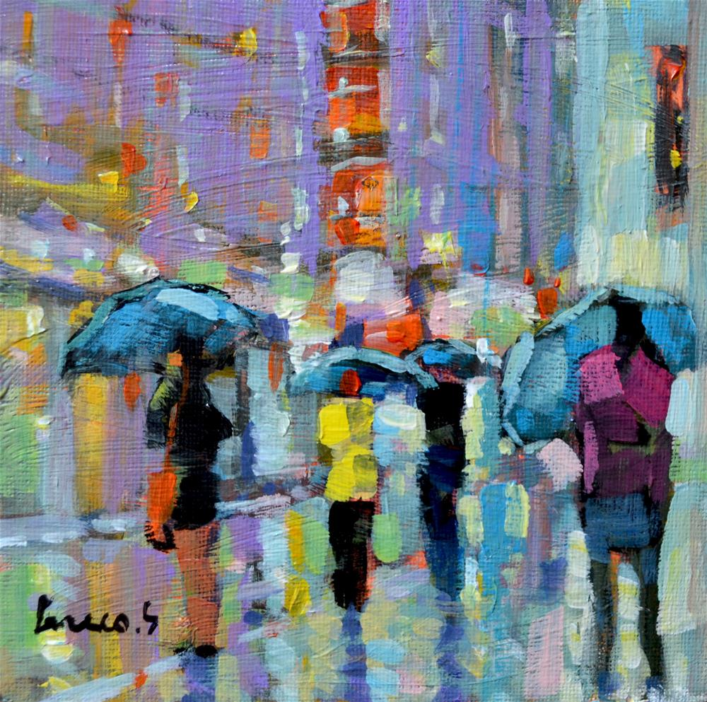 """after the rain"" original fine art by salvatore greco"