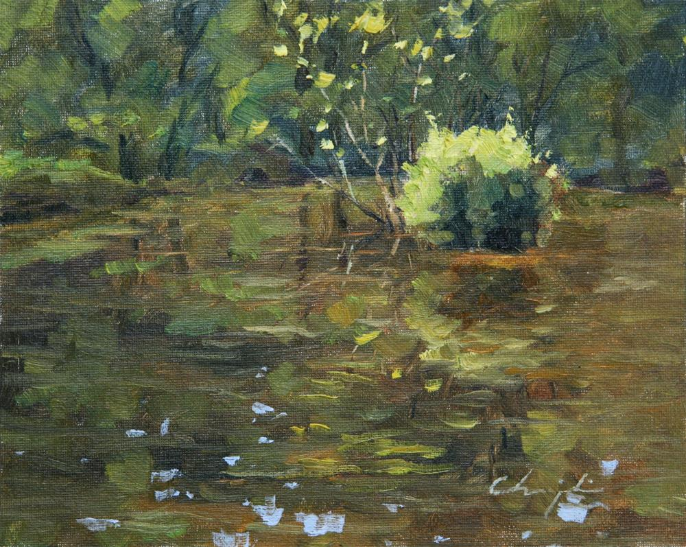 """Pond"" original fine art by Chuang Liu"