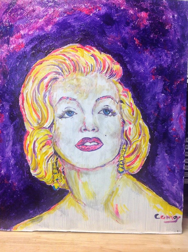 """Marilyn"" original fine art by mark convoy"