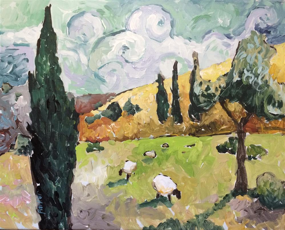 """Vibing Van Gogh"" original fine art by Teddi Parker"