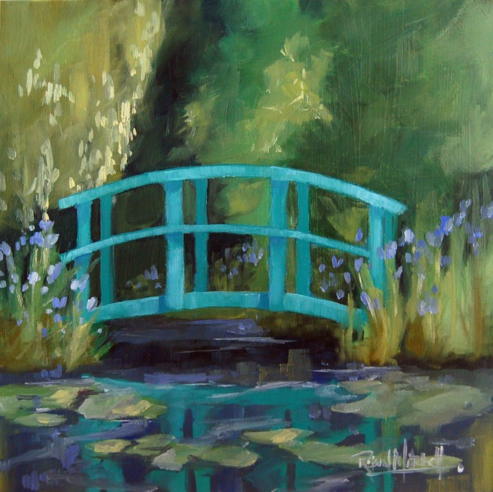 """No 451 the Foot Bridge"" original fine art by Robin J Mitchell"