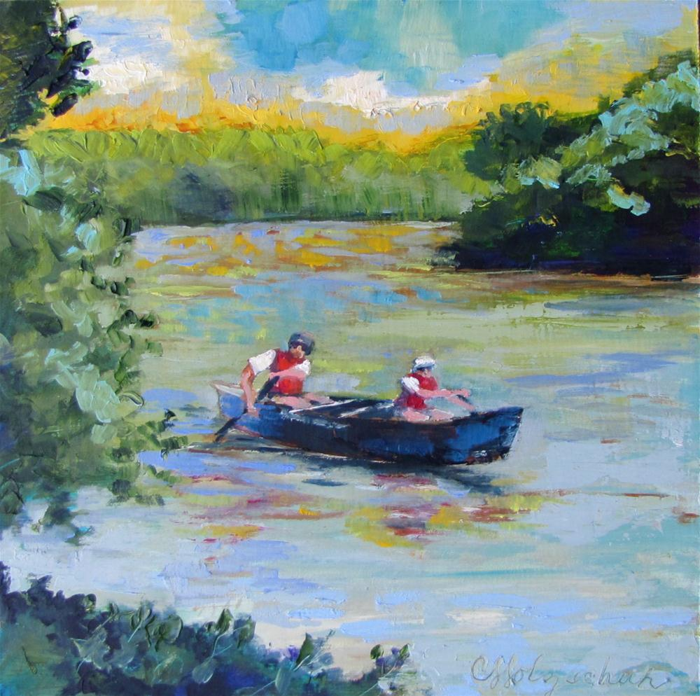 """Round the Bend  8""""x8""""  oil $150 original fine art by Christine Holzschuh"""