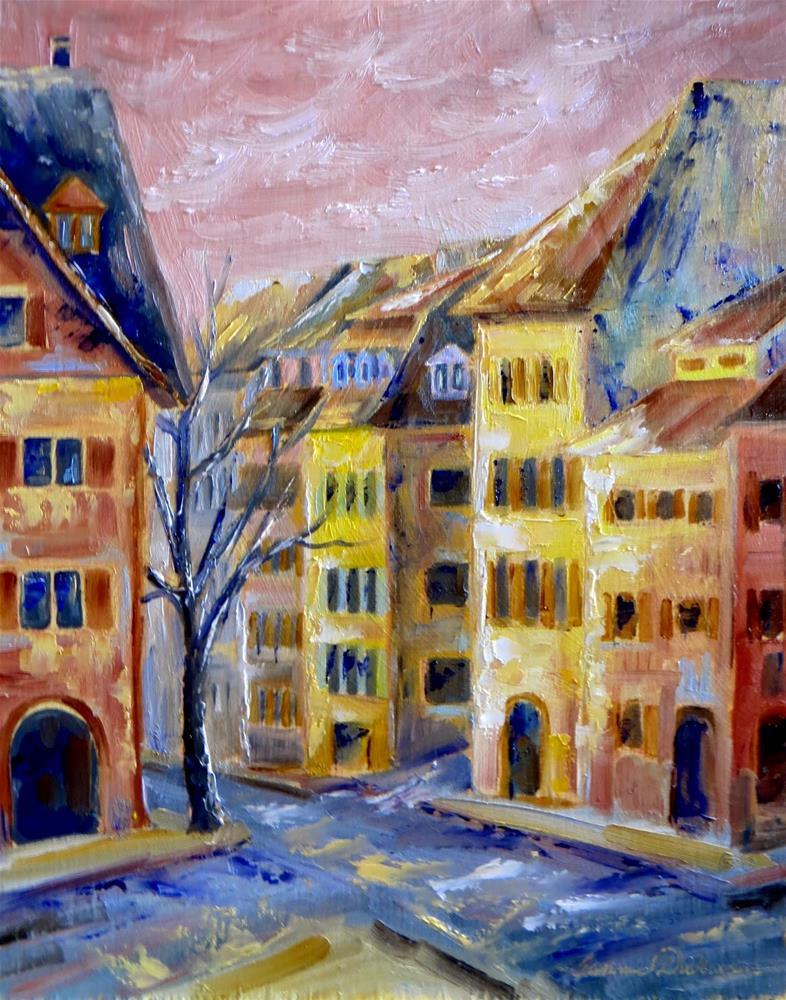 """""""A Walk in Belfort"""" original fine art by Tammie Dickerson"""