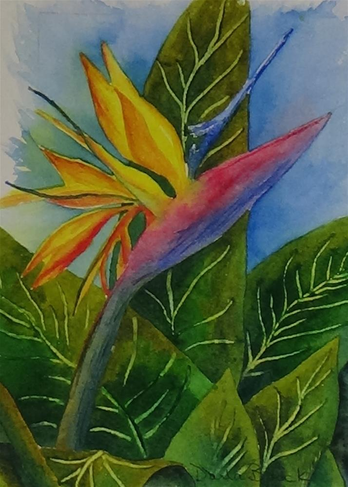 """Memories of Paradise"" original fine art by Darla Brock"