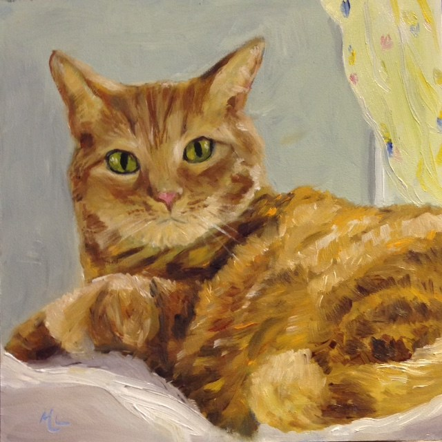 """Caia's Kitty, 2nd Go"" original fine art by Marjie Laizure"