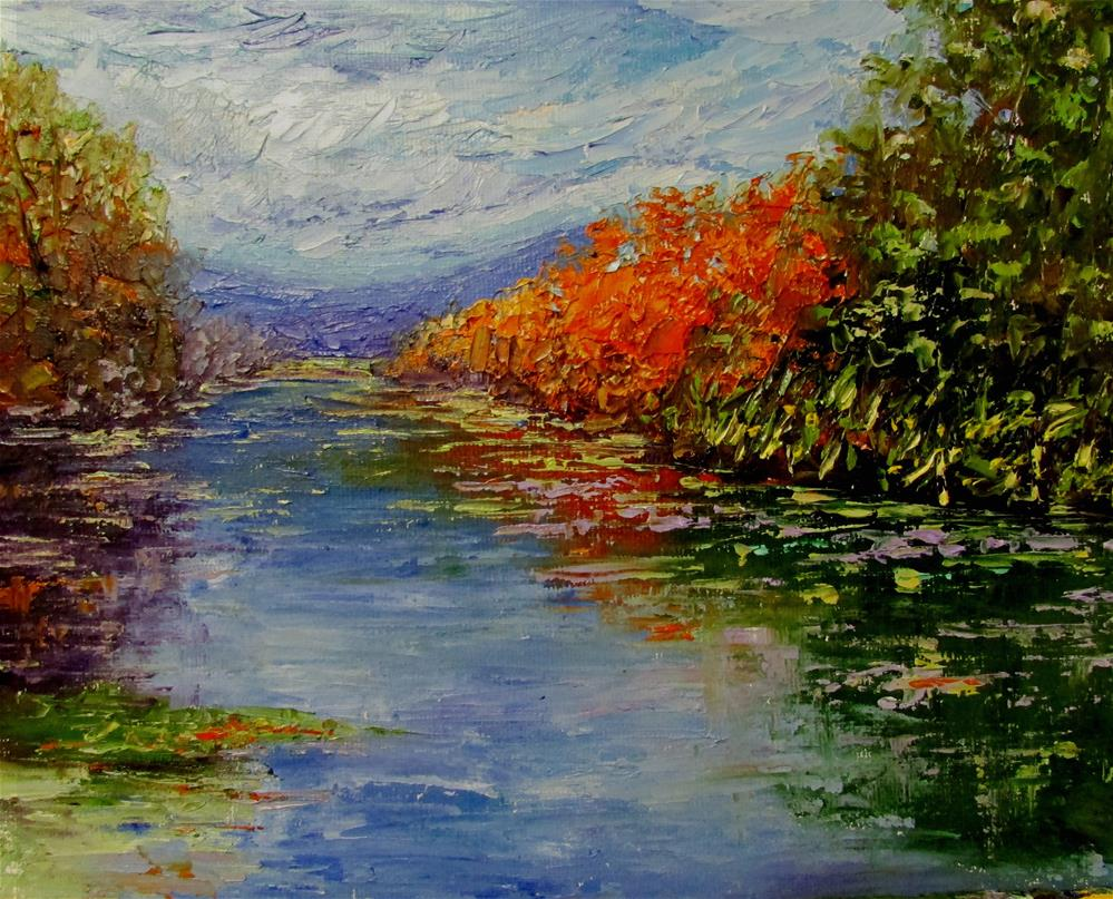 """8 x 10 inch oil Fall Color #2"" original fine art by Linda Yurgensen"