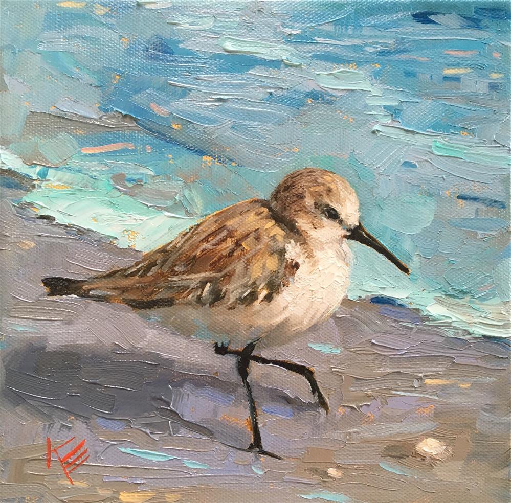 """Western Sandpiper "" original fine art by Krista Eaton"