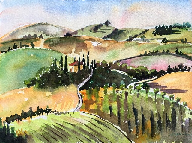 """Tuscany, Tuscany"" original fine art by Lisa Fu"