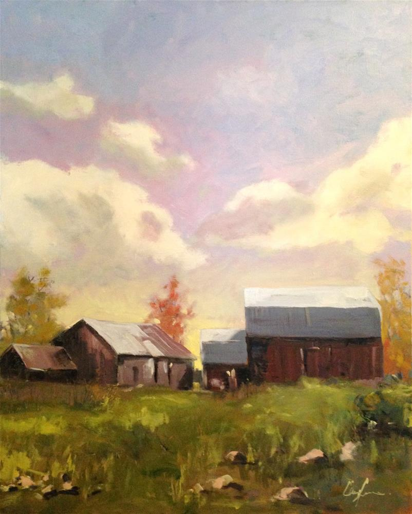 """M12 Barns"" original fine art by Cornelis vanSpronsen"