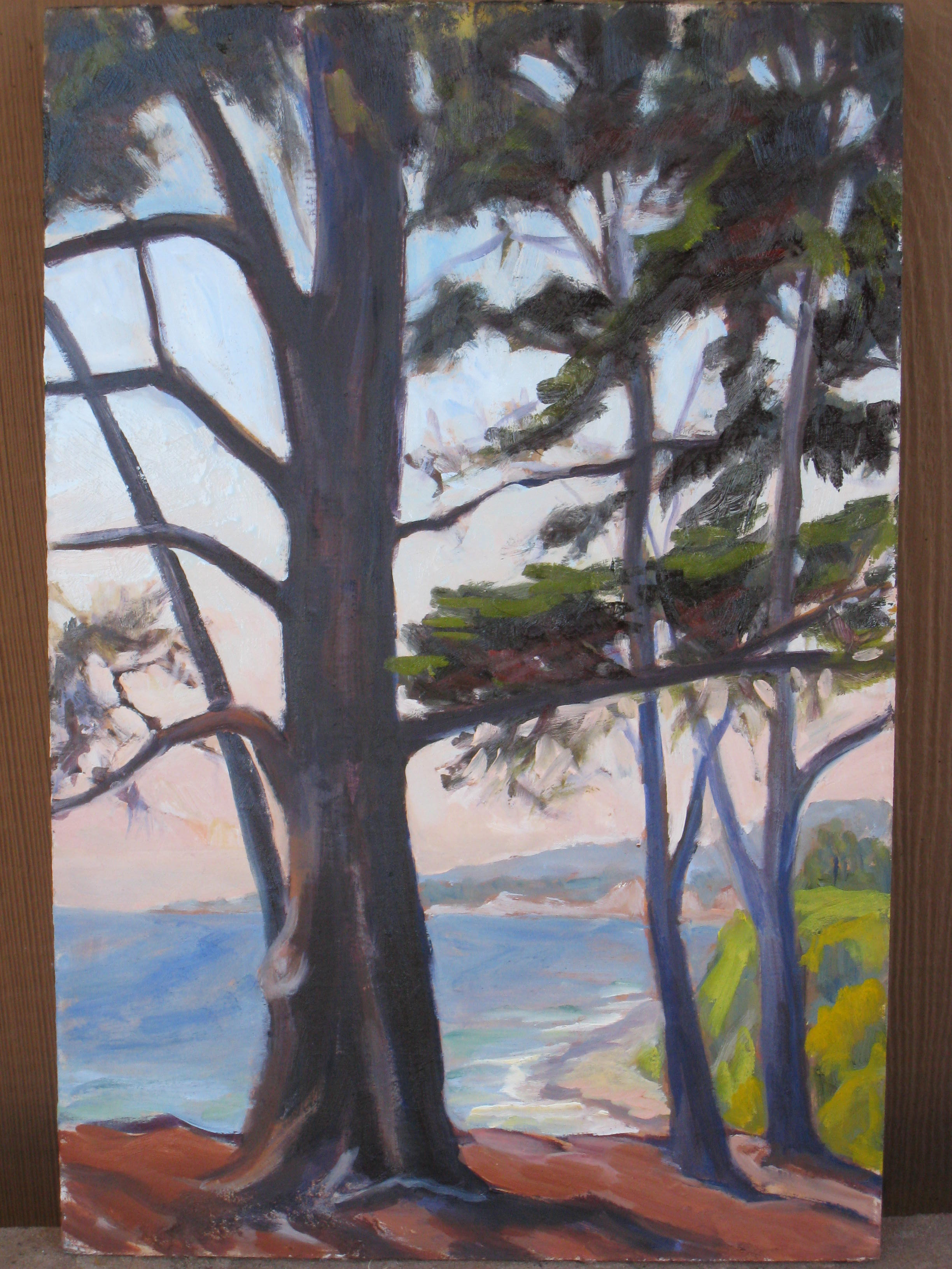 """Cypress Preserve"" original fine art by Leigh Alexandra Sparks"