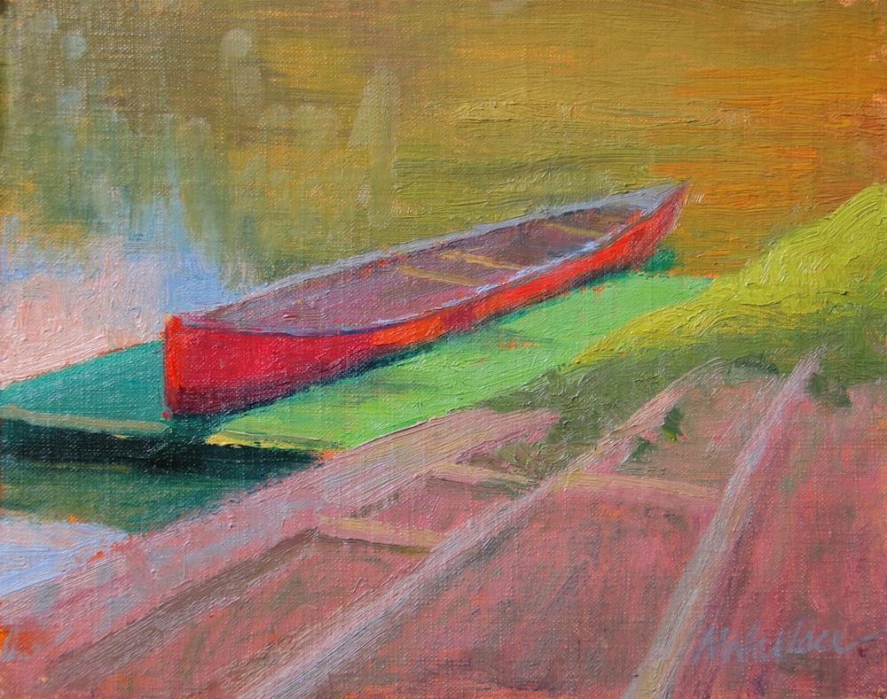"""""""#62 Summer canoe"""" original fine art by Nancy Wallace"""