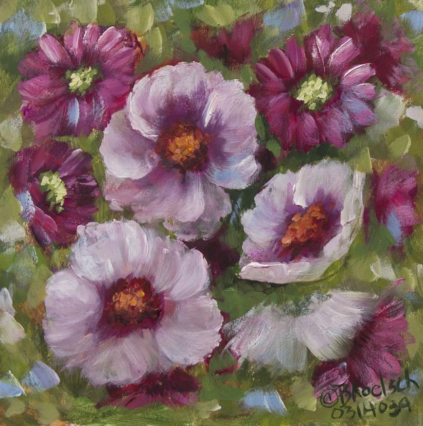 """""""Pink Passion"""" original fine art by Bobbie Koelsch"""