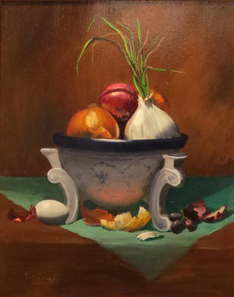 """Bowl of Onions"" original fine art by Rose Zdrazil"