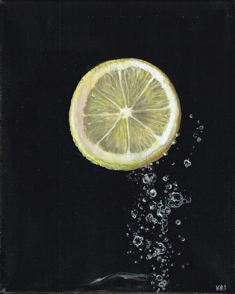 """Lemon Up"" original fine art by Karen Stitt"