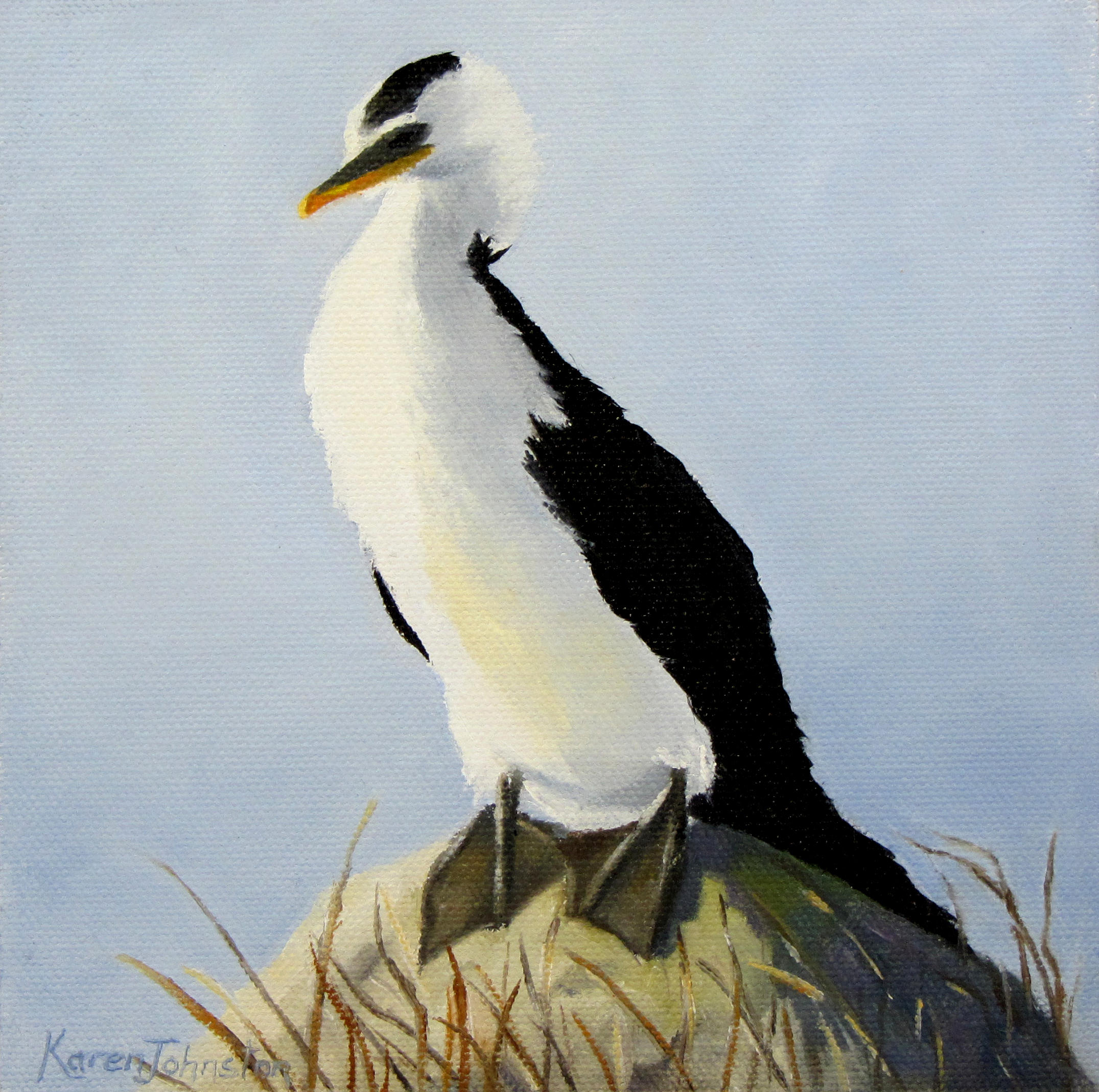 """Sunbathing Shag"" original fine art by Karen Johnston"