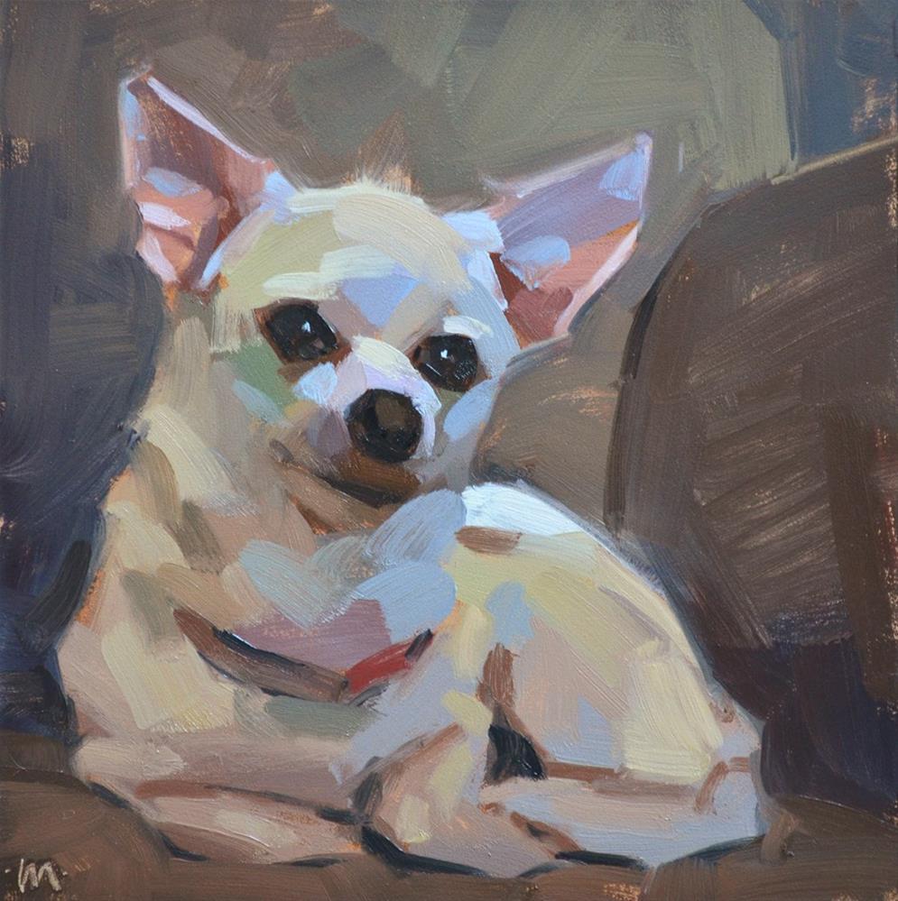 """""""Sittin' Pretty"""" original fine art by Carol Marine"""